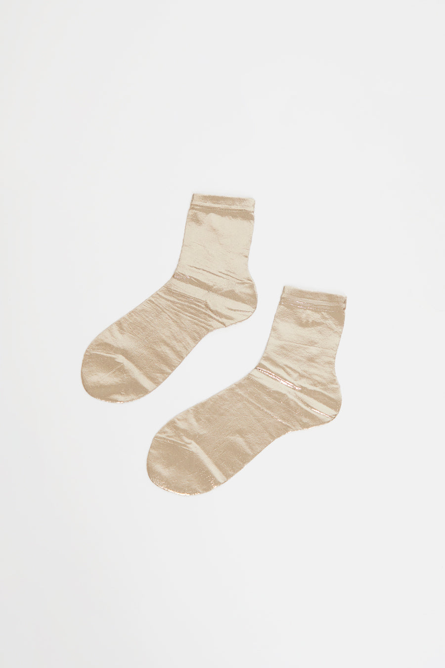 Maria La Rosa Laminated Sock in Platino