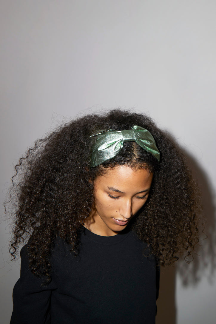 Image of Maria La Rosa Nylon Hairband in Light Green