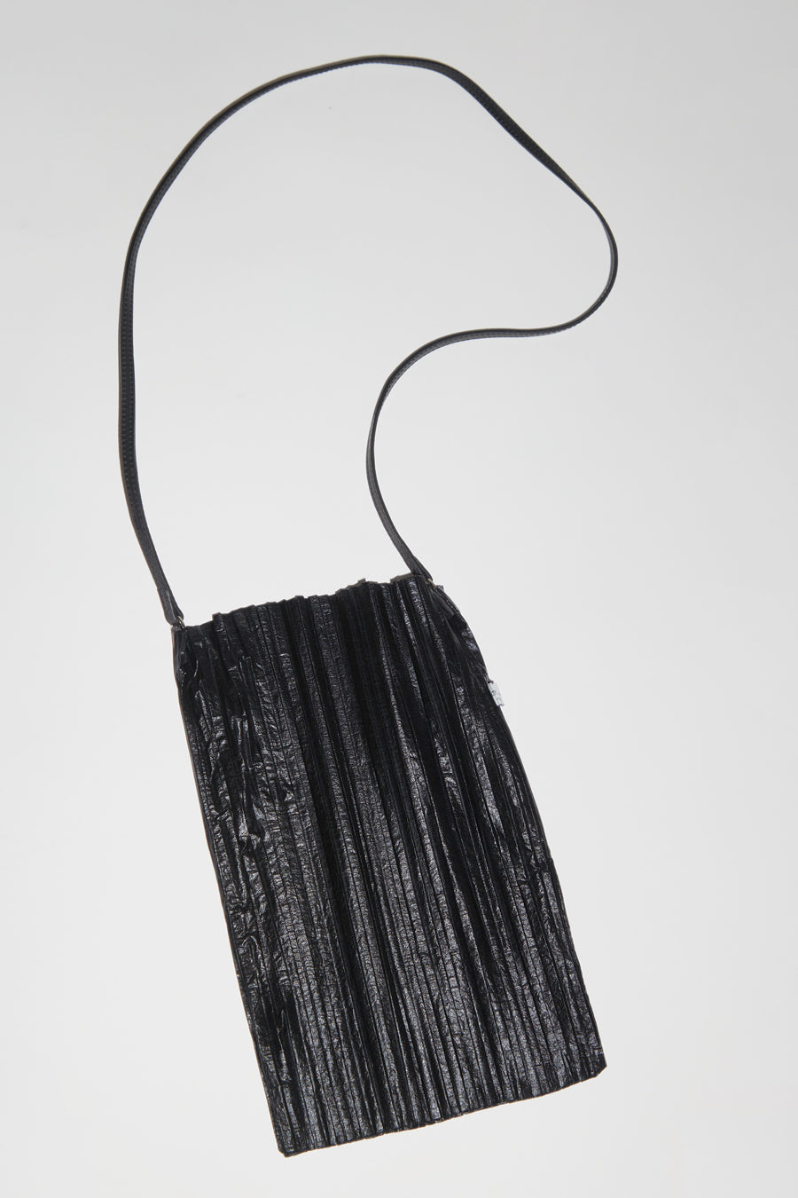 Maria La Rosa Plisse Bag in Black
