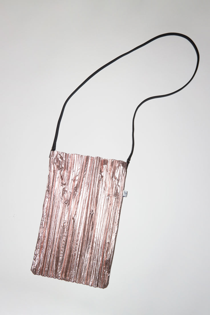 Image of Maria La Rosa Plisse Bag in Pink