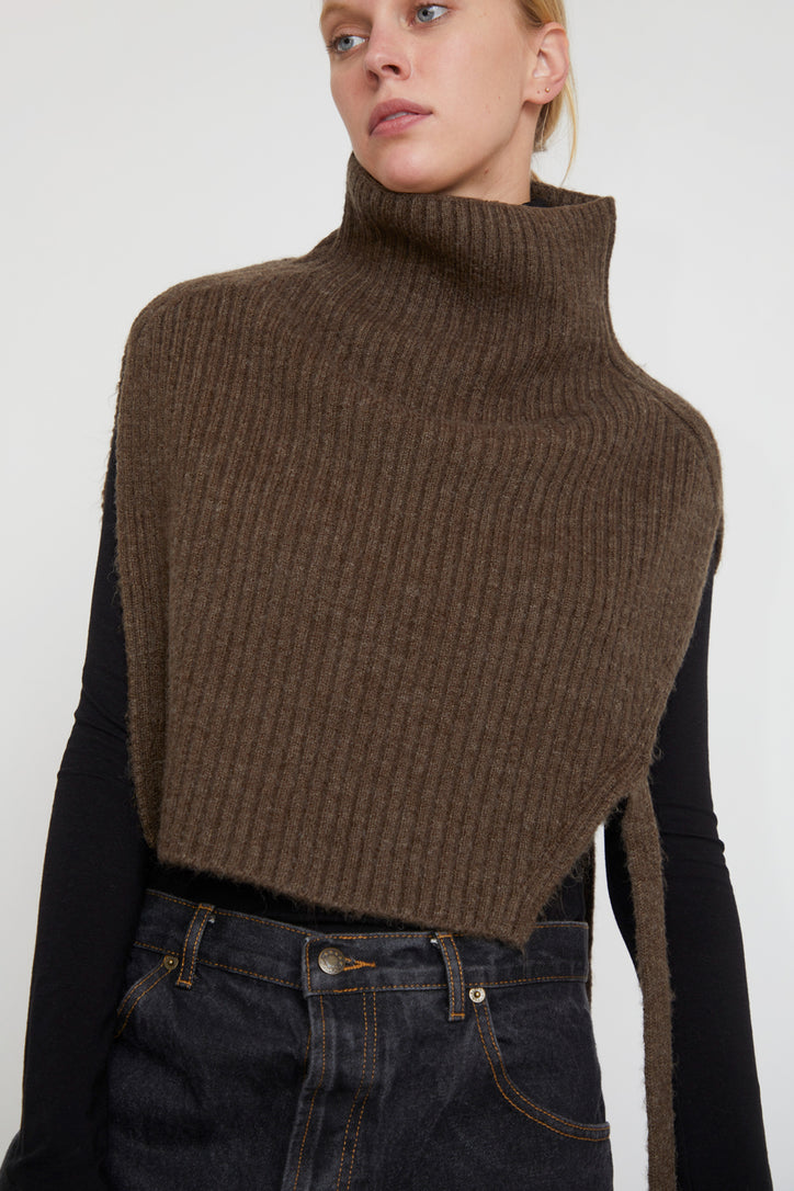 Image of Mijeong Park Neck Warmer in Brown