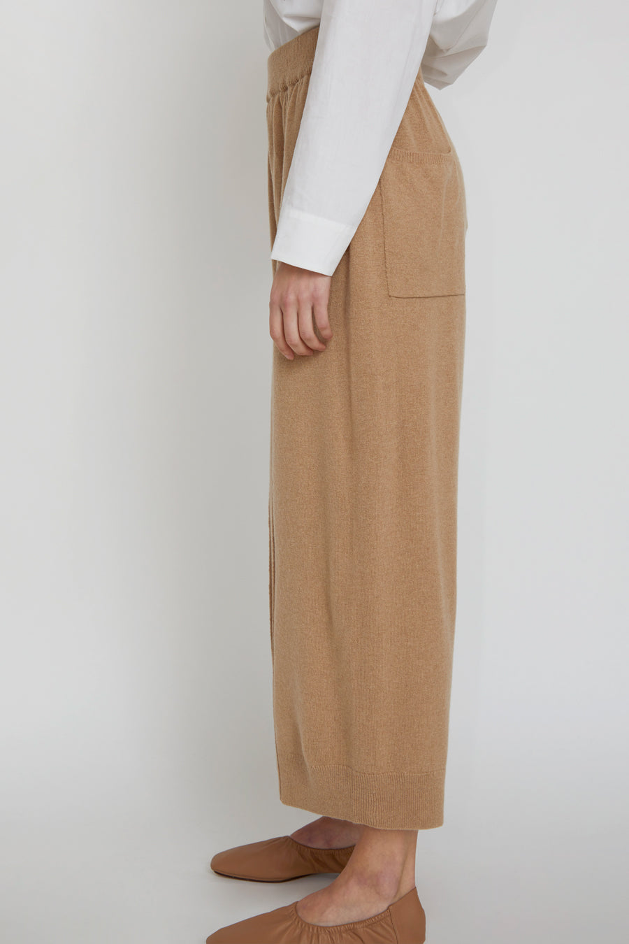 Monica Cordera Cashmere Knit Pants in Camel