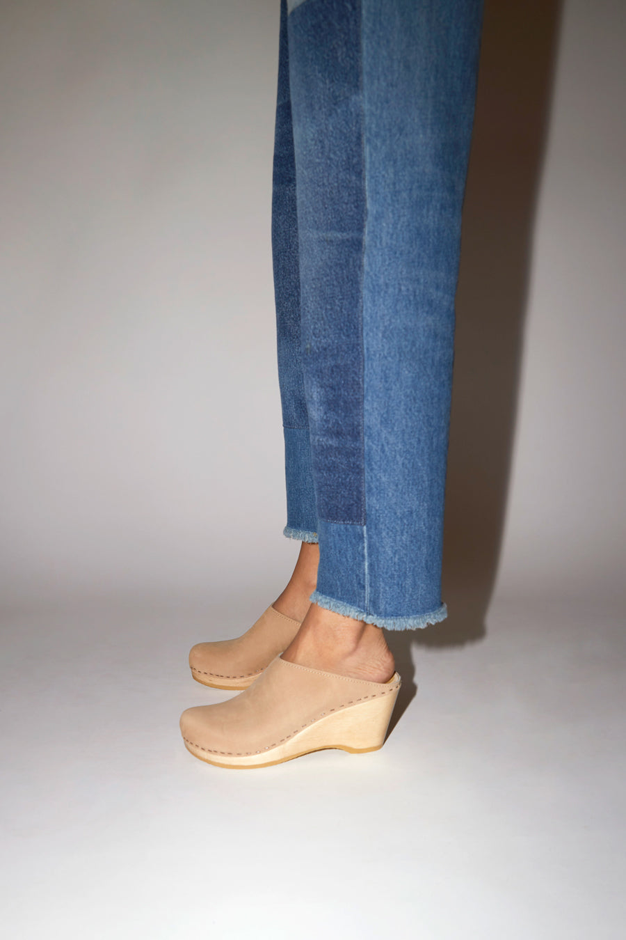 No.6 New School Clog on Wedge in Bone