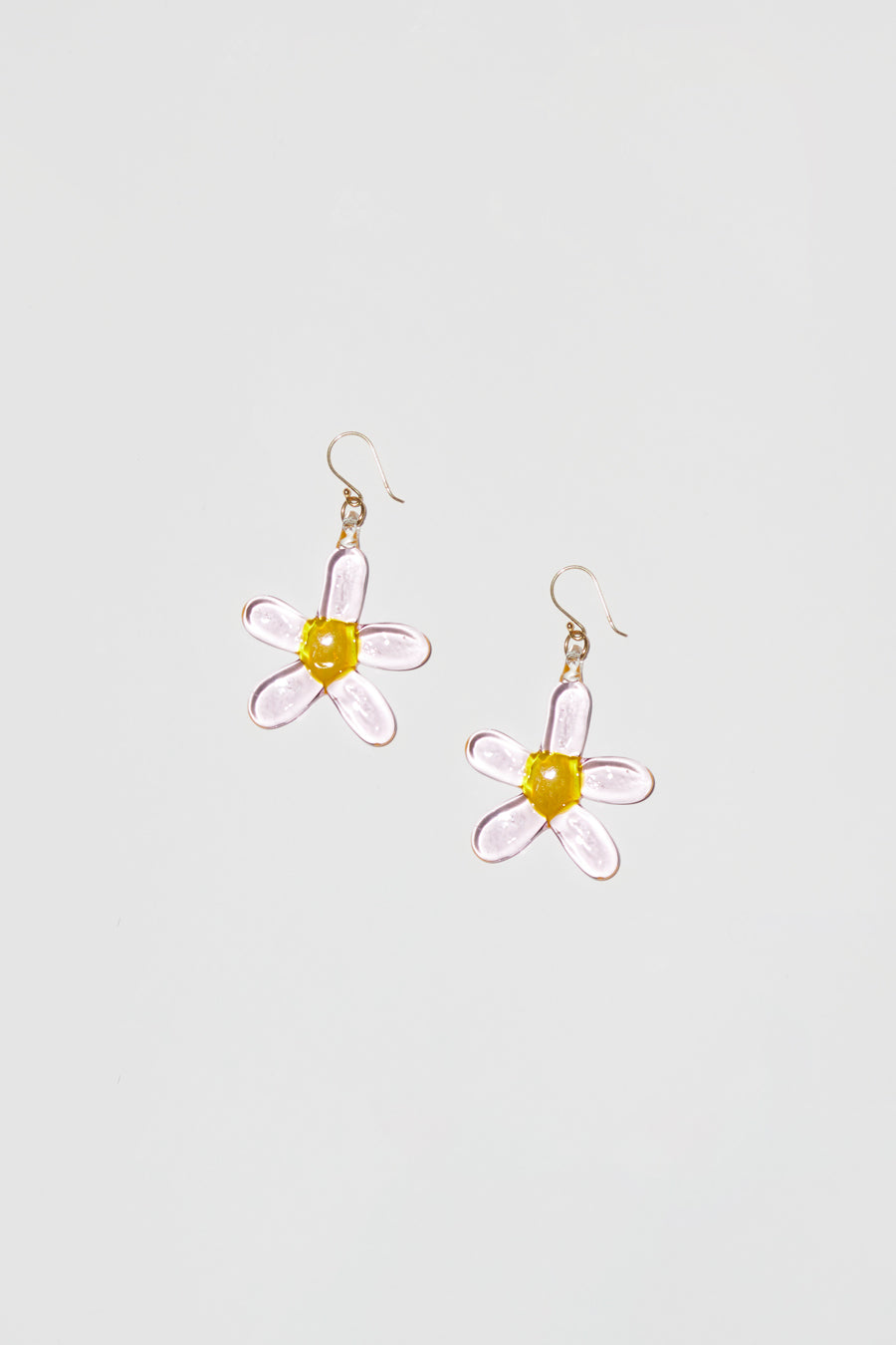 Ninfa Daisy Hook Earrings in Pink
