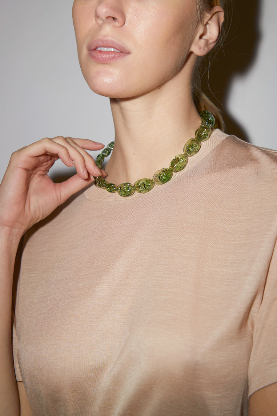 Ninfa Elvira Necklace in Green