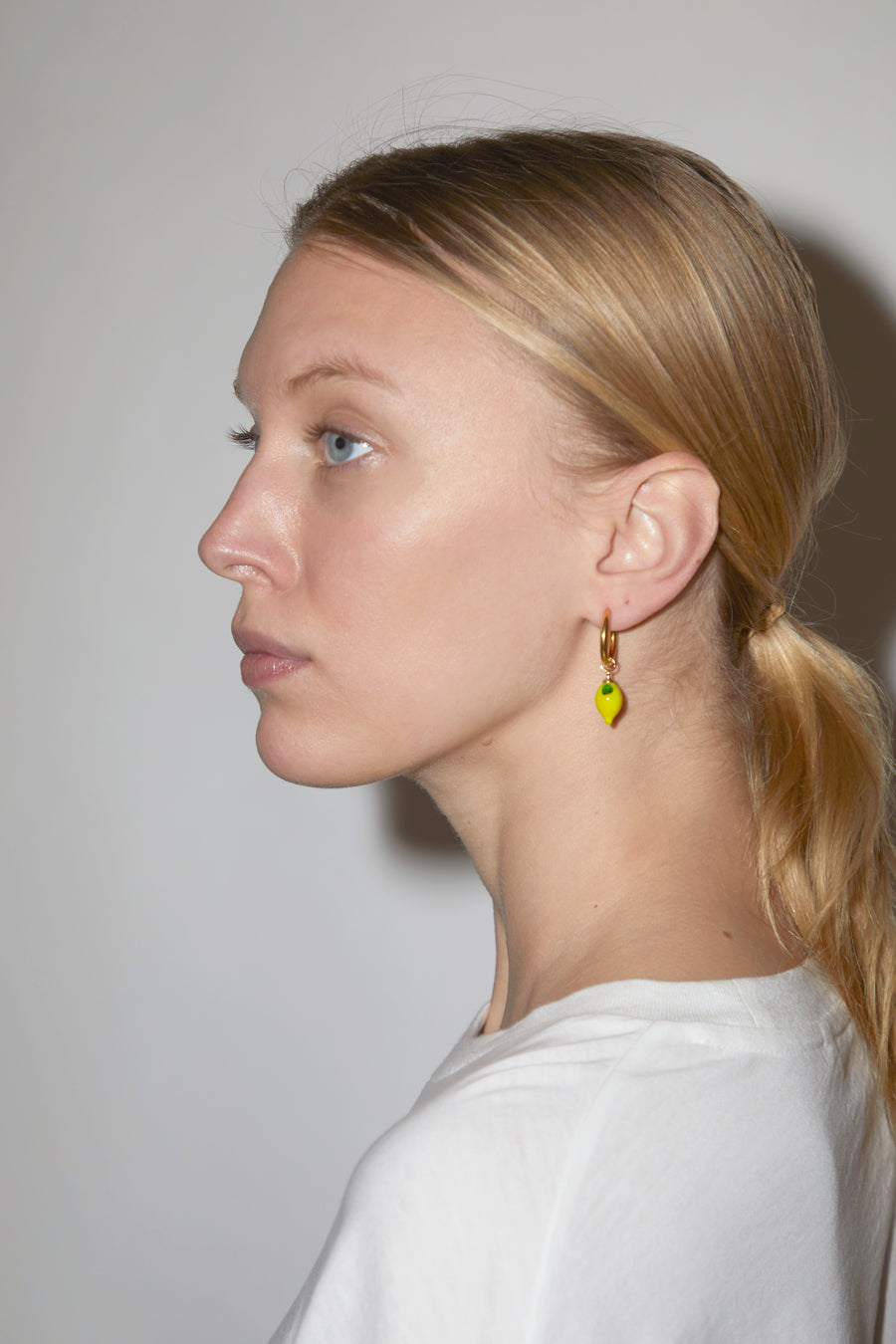 Ninfa Lemon Small Hoop Earrings
