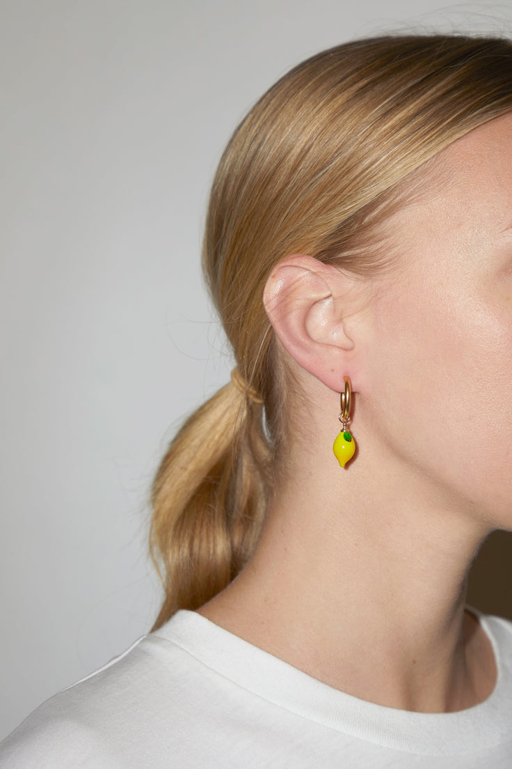 Image of Ninfa Lemon Small Hoop Earrings