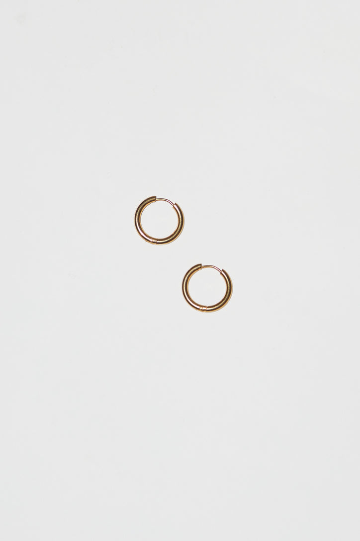 Image of Ninfa Tulip Small Hoop Earrings in Sky