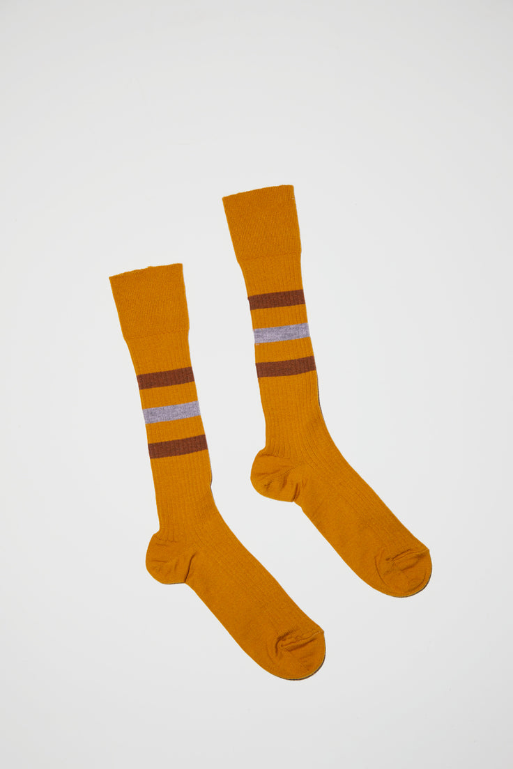 Image of No.6 Knee High Tube Sock in Camel