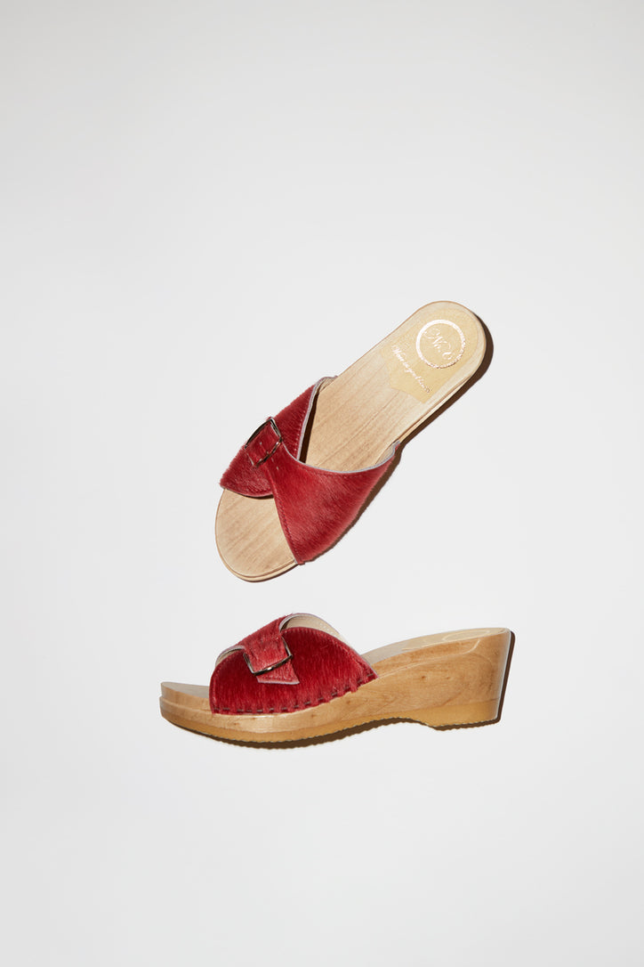 Image of No.6 Abuela Clog on Mid Wedge in Melon Pony
