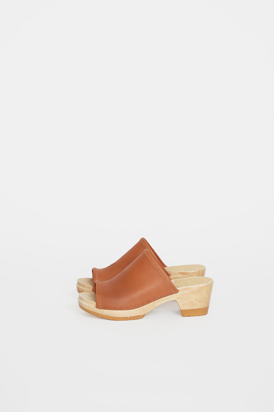No.6 Daria Clog on Mid Heel in Caramel