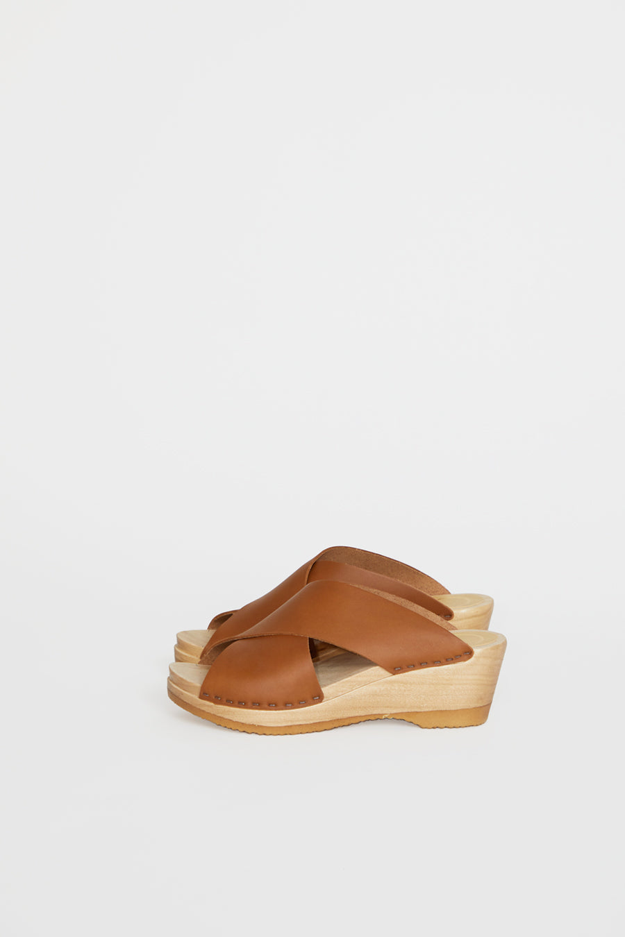 No.6 Frida Clog on Mid Wedge in Palomino