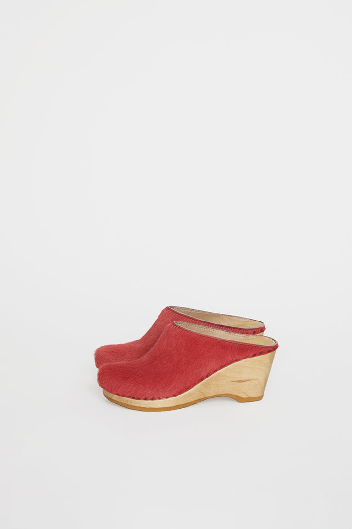 Image of No.6 New School Clog on Wedge in Melon Pony