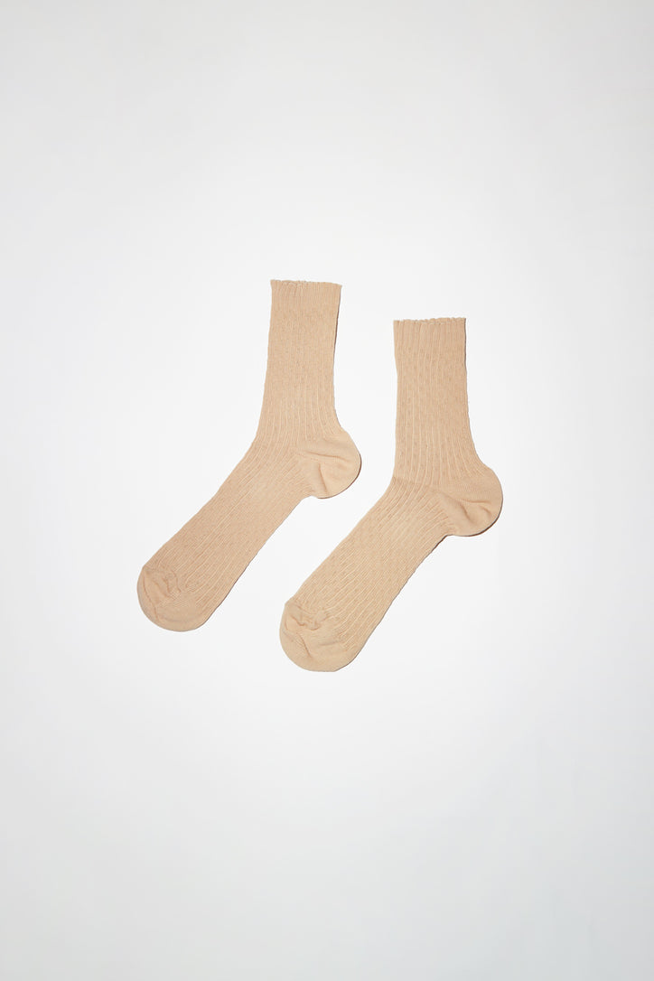 Image of No.6 Pointelle Sock in Beige
