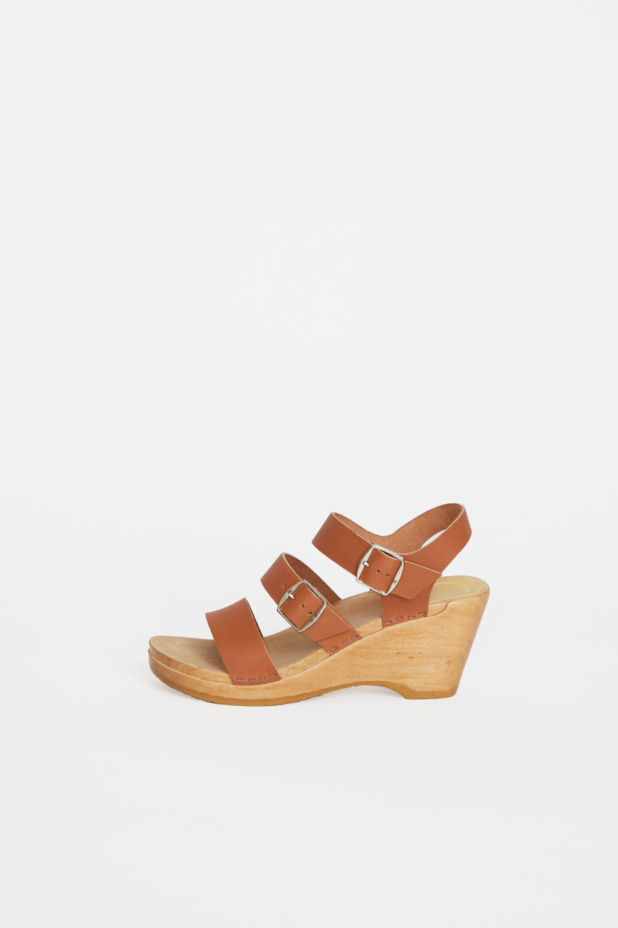 No.6 Rosalia Clog on Wedge in Caramel