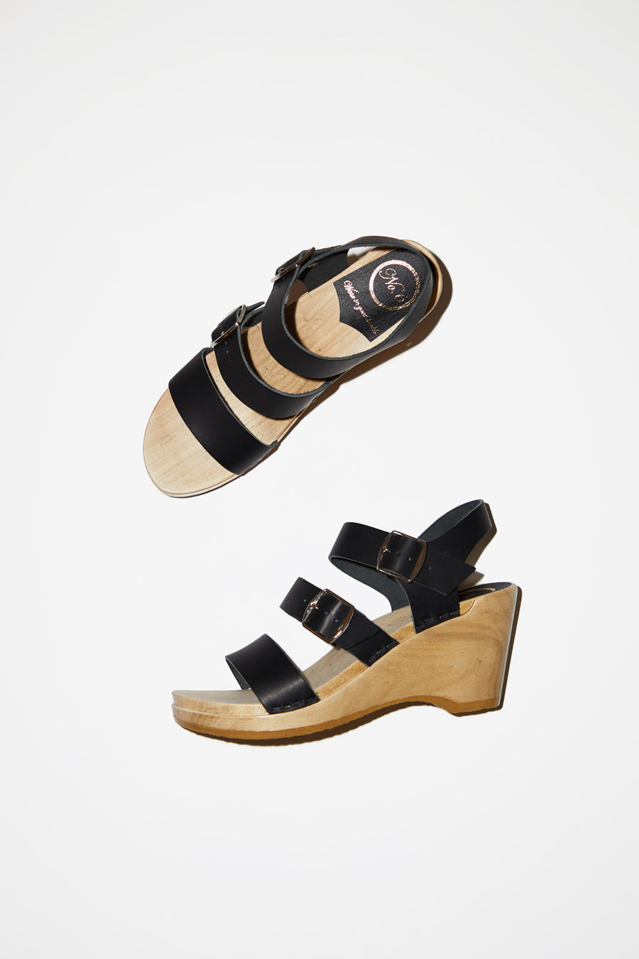 No.6 Rosalia Clog on Wedge in Coal