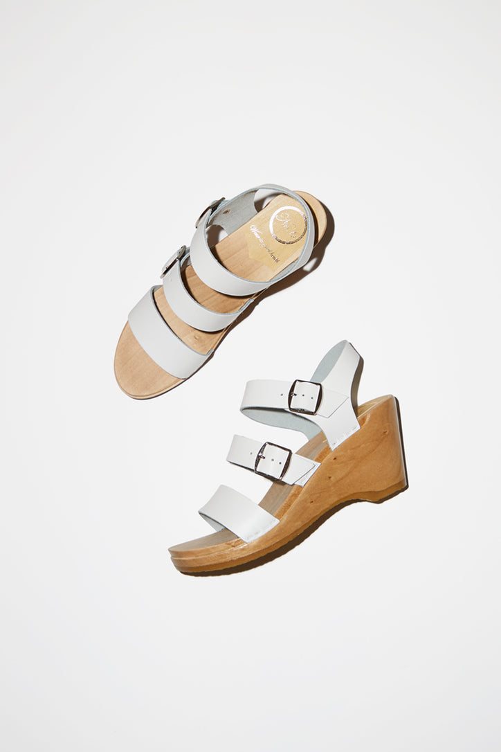 Image of No.6 Rosalia Clog on Wedge in White