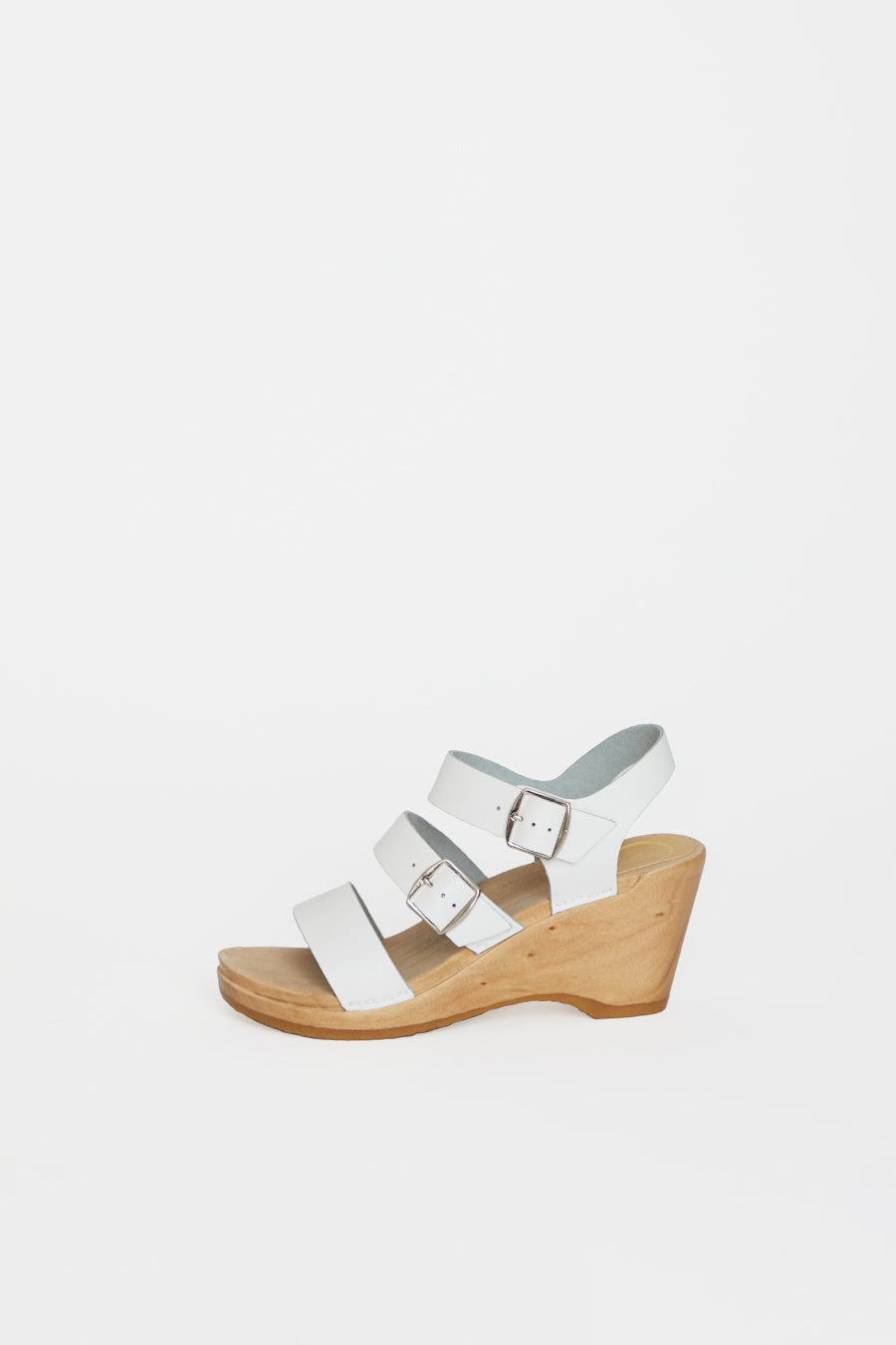 No.6 Rosalia Clog on Wedge in White