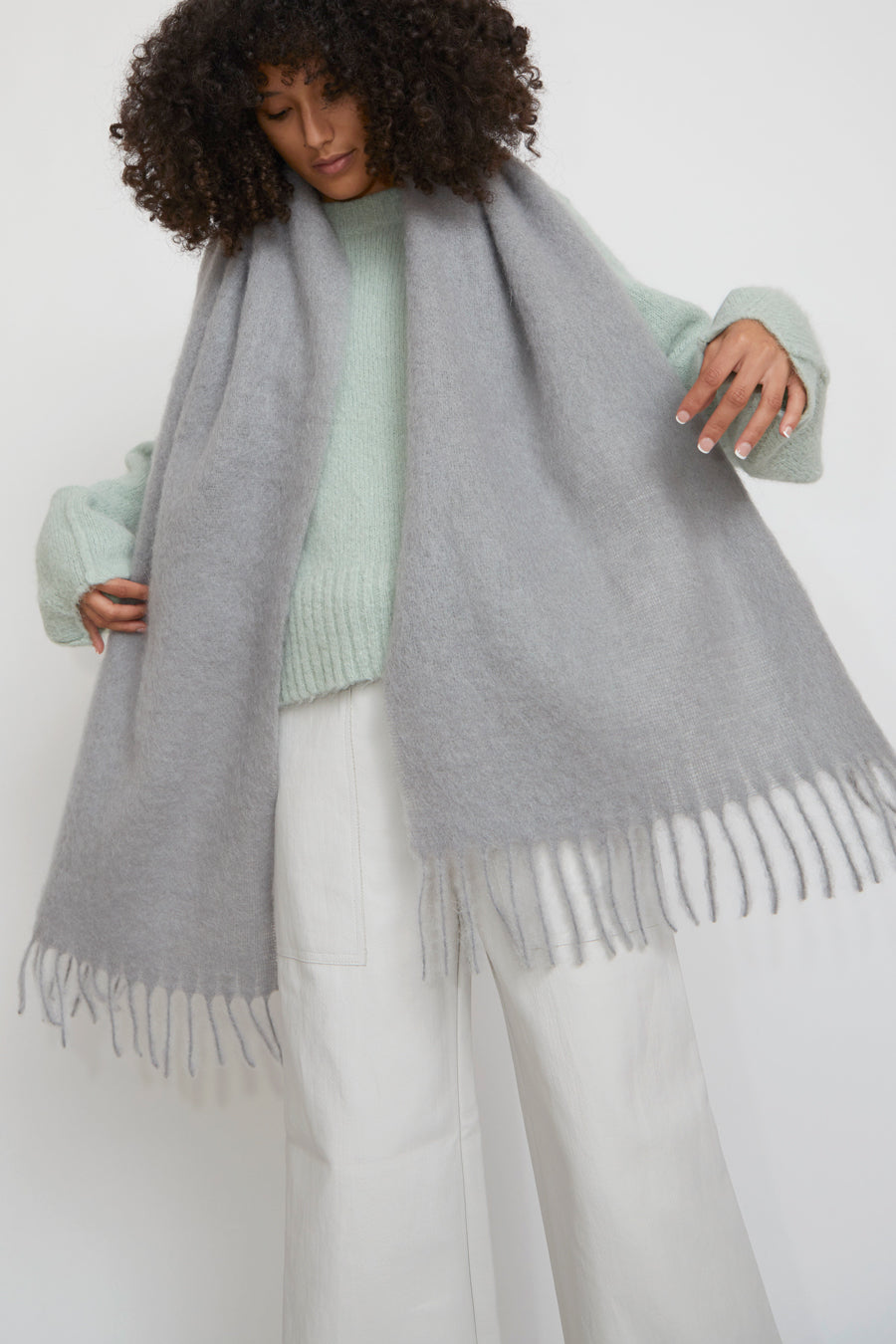 Rodebjer Lajos Scarf in Grey