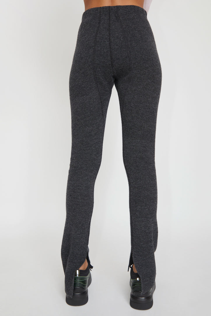 Image of StandAlone Wool and Cashmere Leggings in Dark Grey