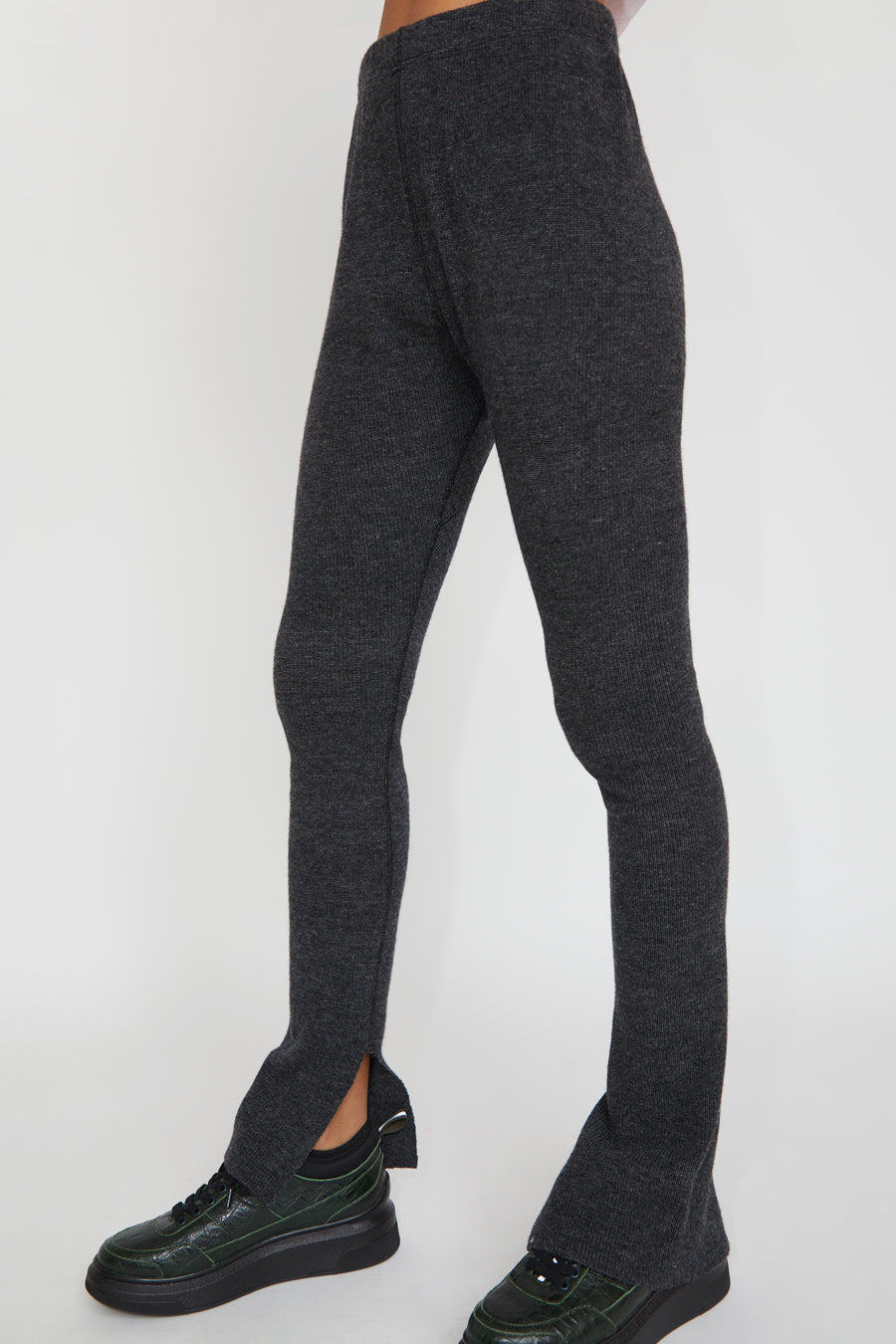 StandAlone Wool and Cashmere Leggings in Dark Grey