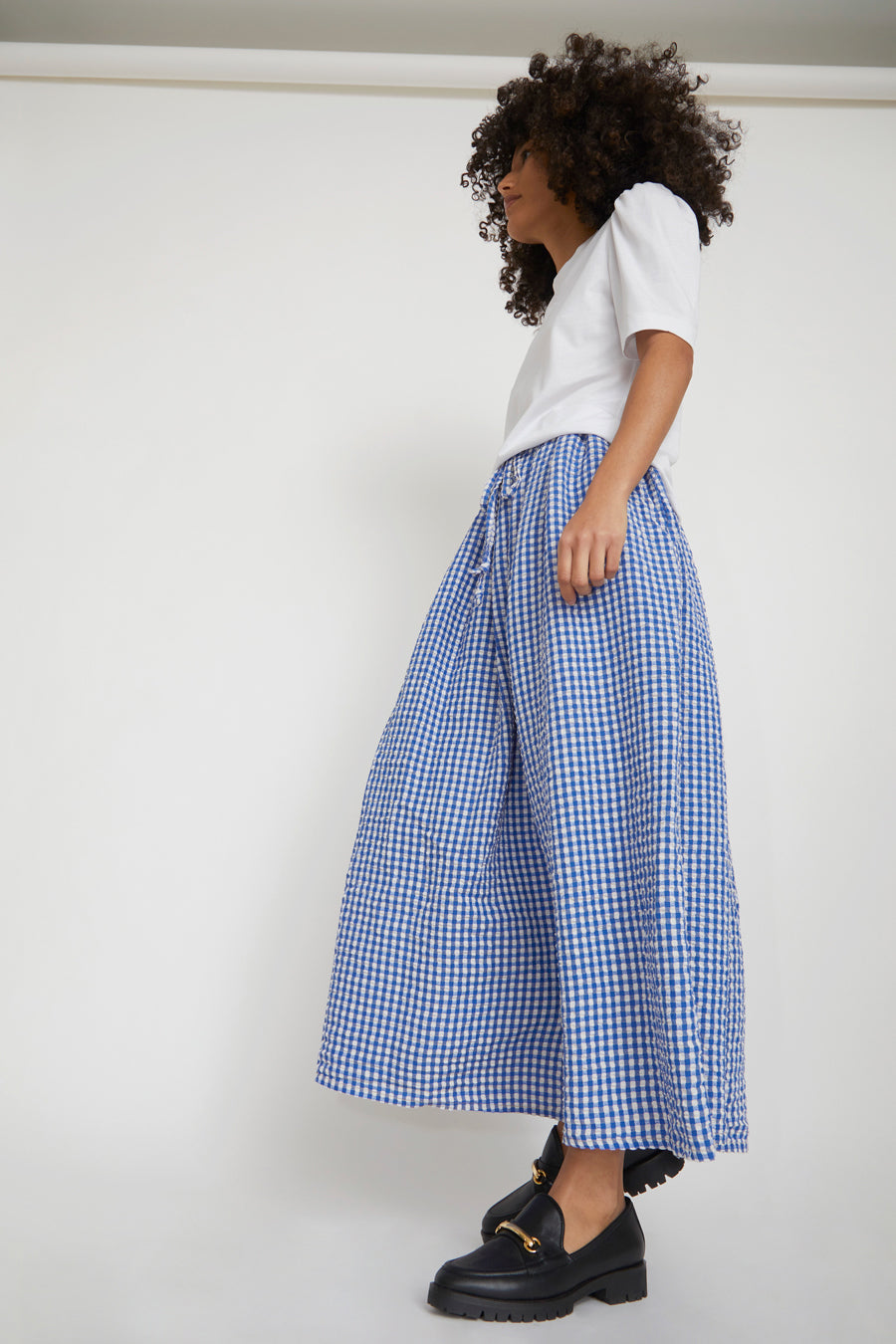Sultan Wash Juppy Skirt Vichy in French Blue