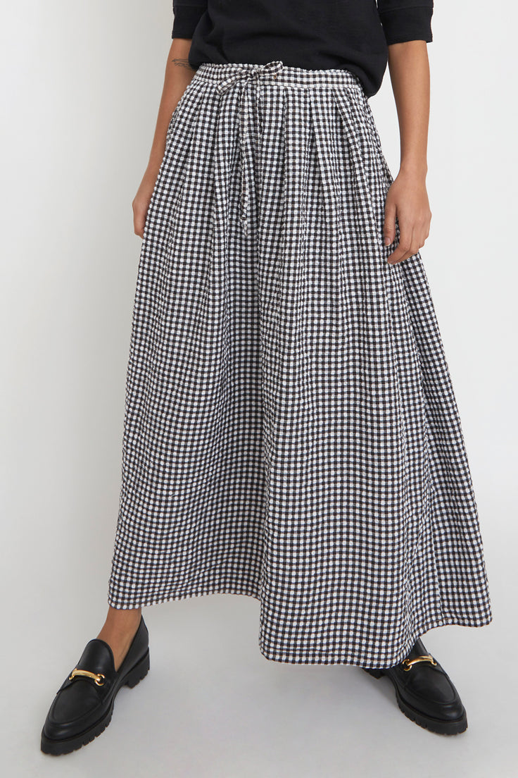 Image of Sultan Wash Juppy Skirt Vichy in Noir