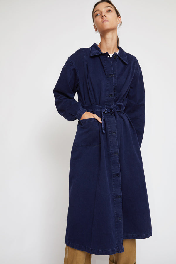 Sultan Wash 1930's Italian Nurse Coat in Marine