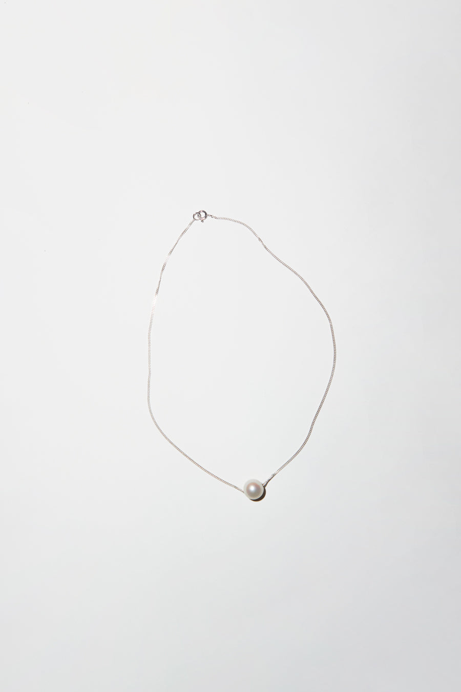 Vibe Harslof Iris Pearl Necklace in Silver