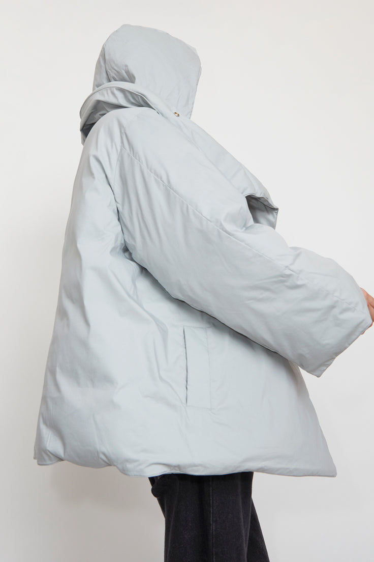 Image of YearOne Happy Jacket with Detachable Hood in Cloud