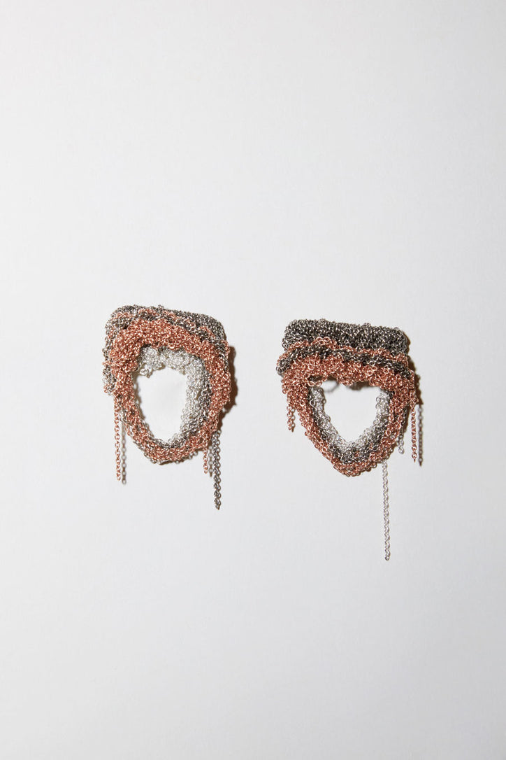 Image of Arielle de Pinto Specter Earrings in Sterling Silver Faded+Rose Gold+Silver