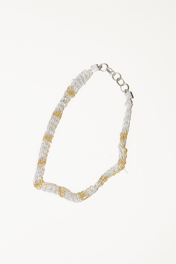 Arielle de Pinto Rope Necklace in Silver and Gold