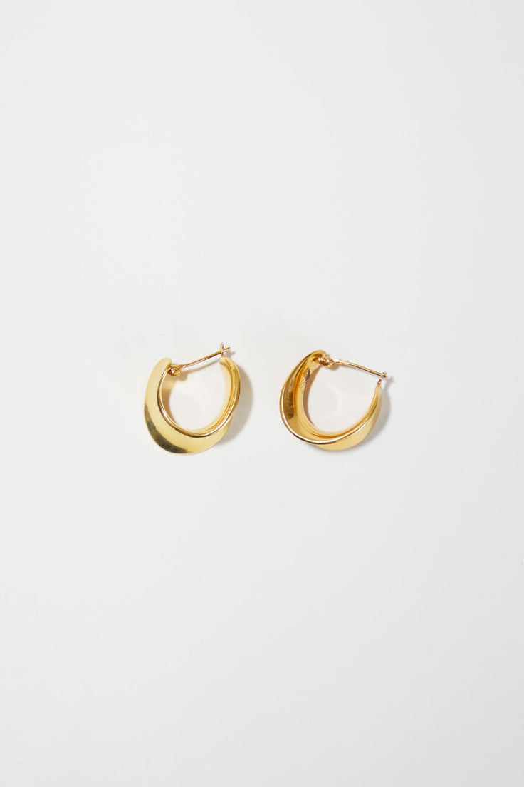 Image of Agmes Mini Laila Hoops in Gold Vermeil