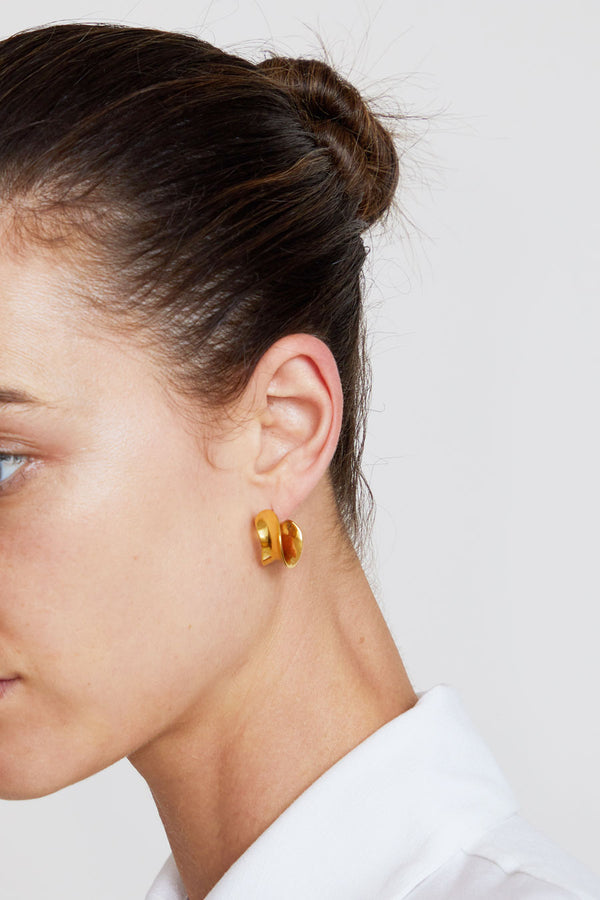 Agmes Mini Laila Hoops in Gold Vermeil