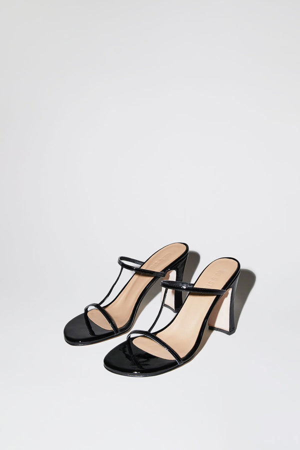 No.6 Alexandra T-Strap in Black Patent