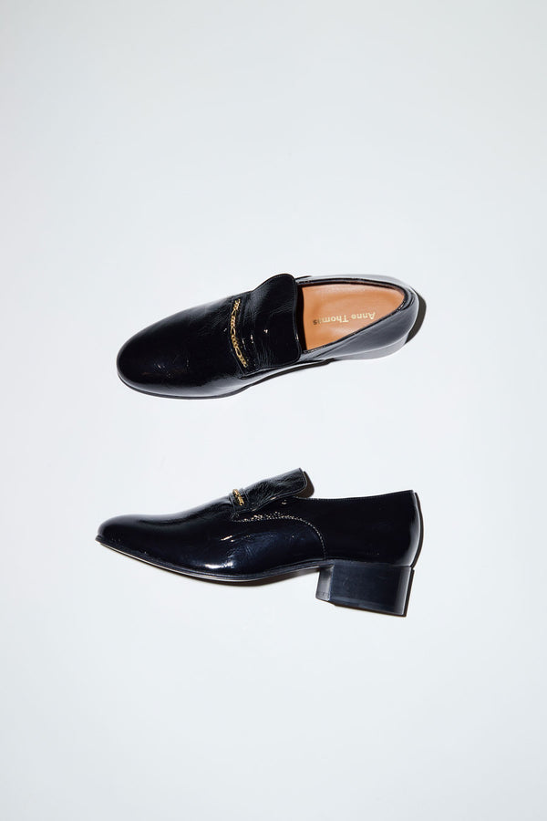 Anne Thomas Montana Jewel Loafer in Koki Black