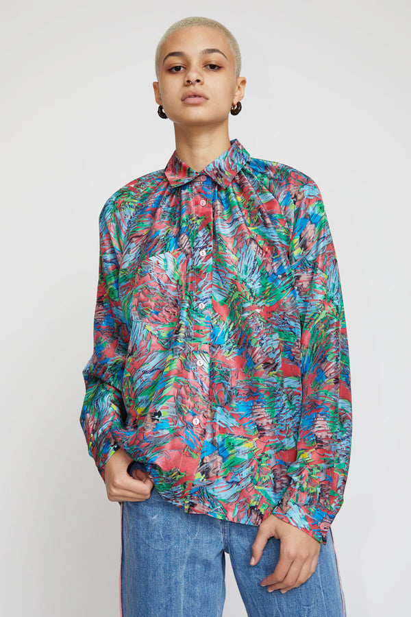 Anntian Pleats Blouse in Print I