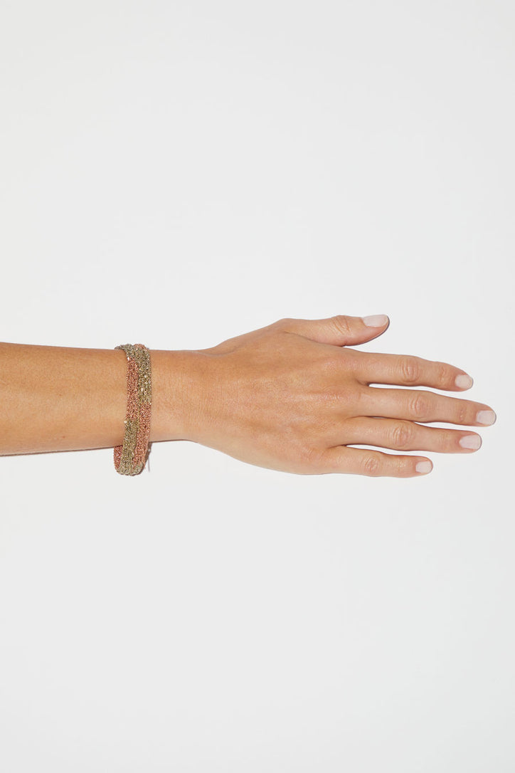 Image of Arielle de Pinto Blaze Bracelet in Haze and Rose Gold