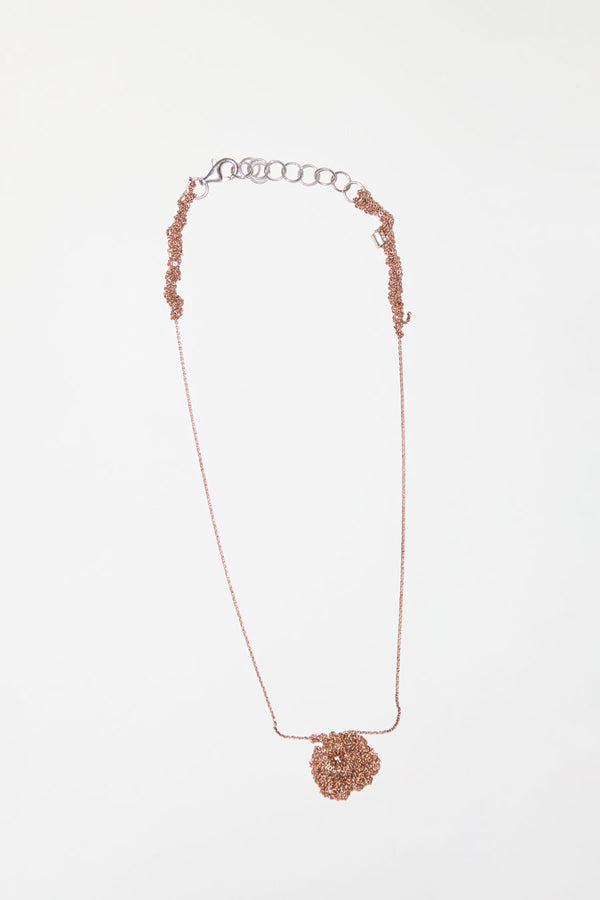 Arielle de Pinto One Pansy Necklace in Rose Gold Vermeil