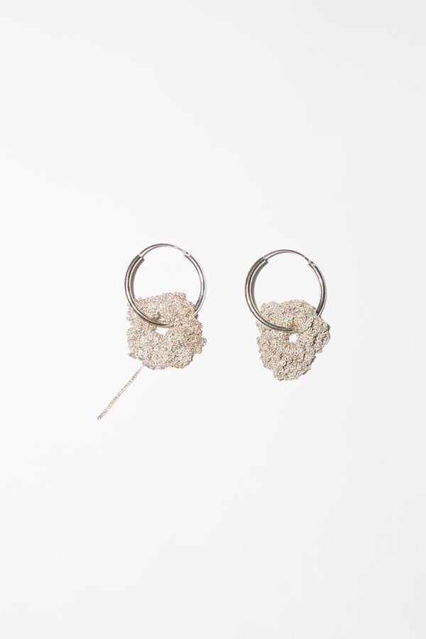 Arielle de Pinto Pansy Hoops in Sterling Silver
