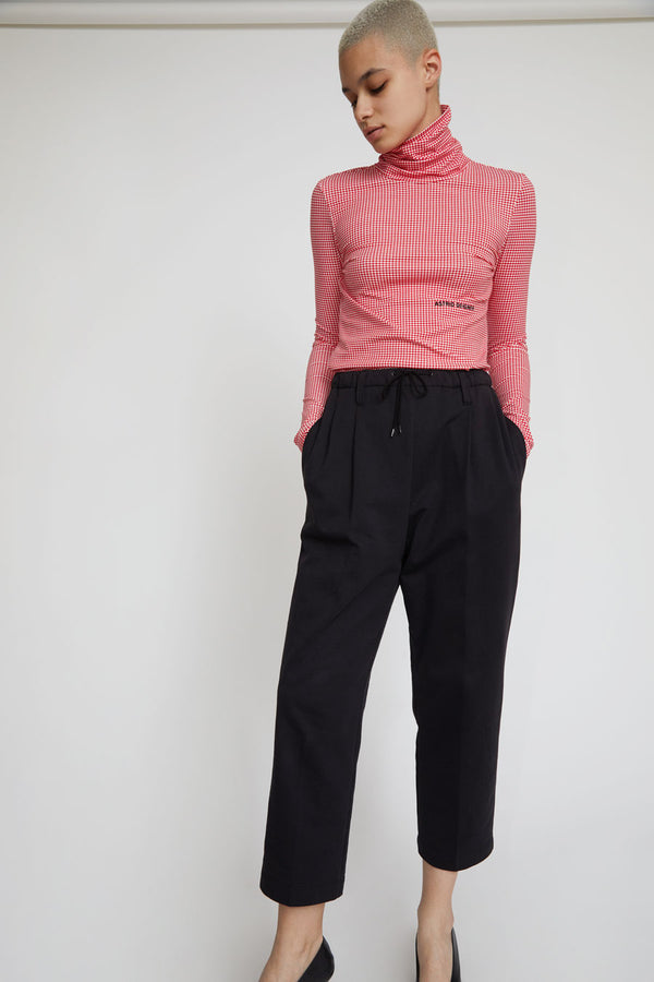 Astrid Deigner Pleat Front Trousers in Black