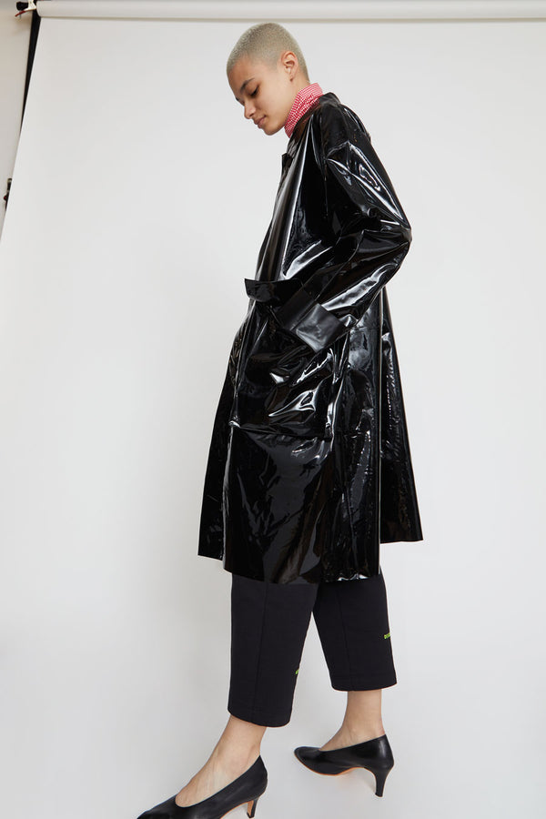 Astrid Deigner Raincoat in Glossy Black