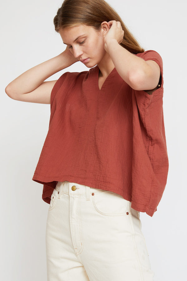 Atelier Delphine Celeste Top in Brick