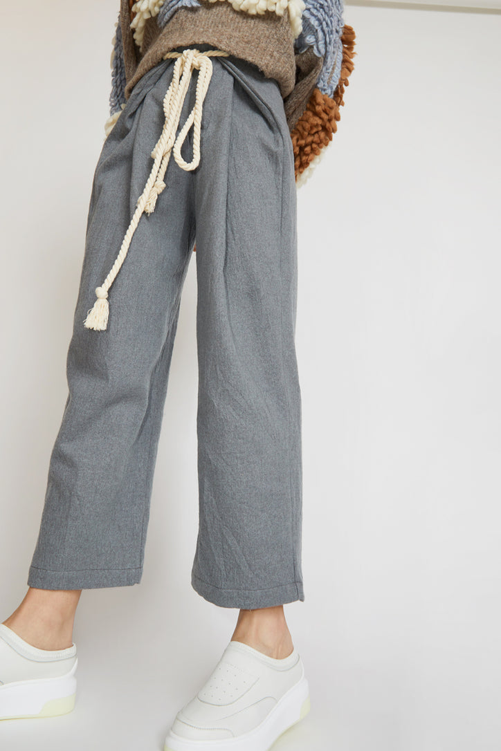 Image of Atelier Delphine Parachute Pant in Neutral Grey