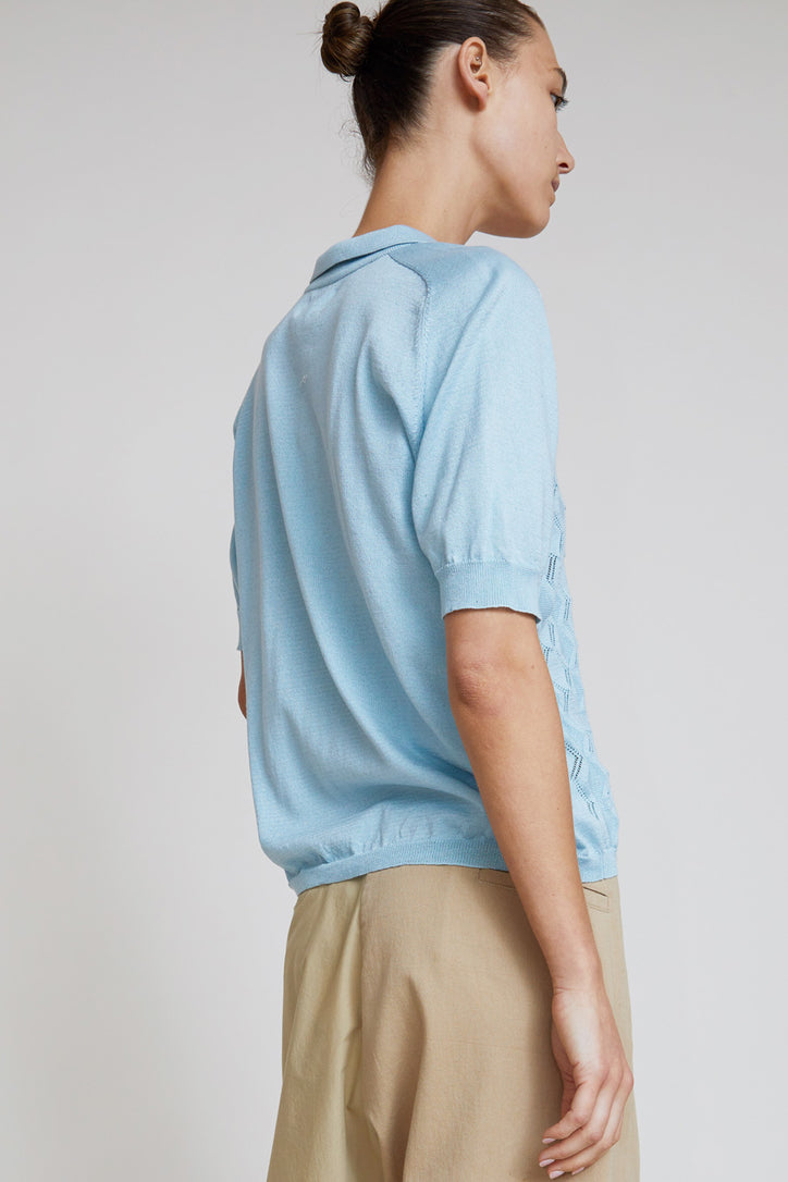 Image of Aymara Polo Shirt in Fantasy Knit in Breeze