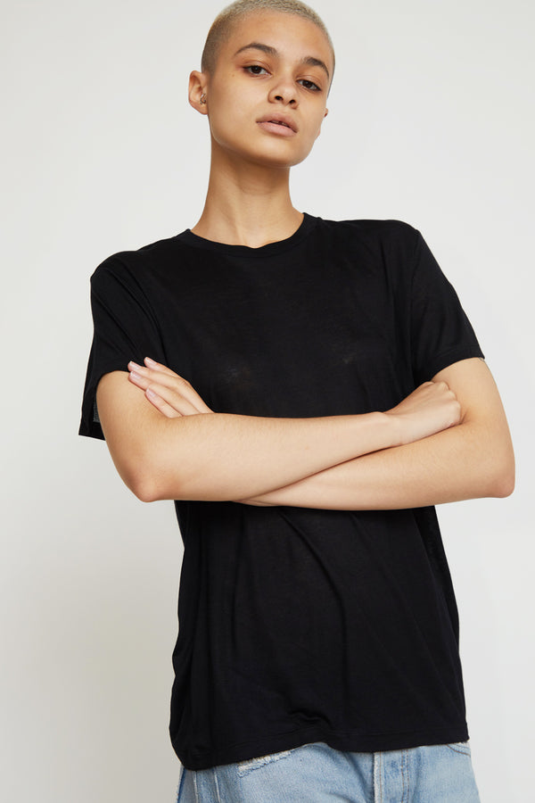 Baserange Bamboo T-Shirt in Black