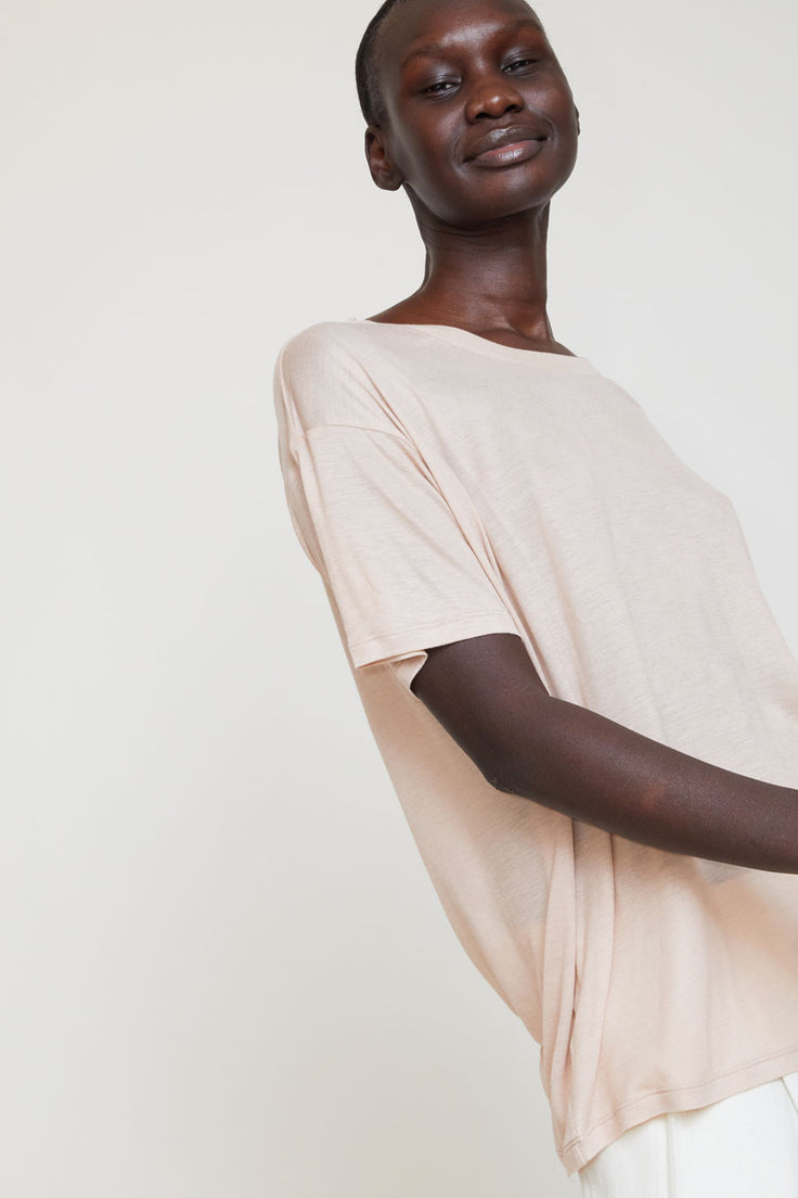 Image of Baserange Loose Tee in Nude