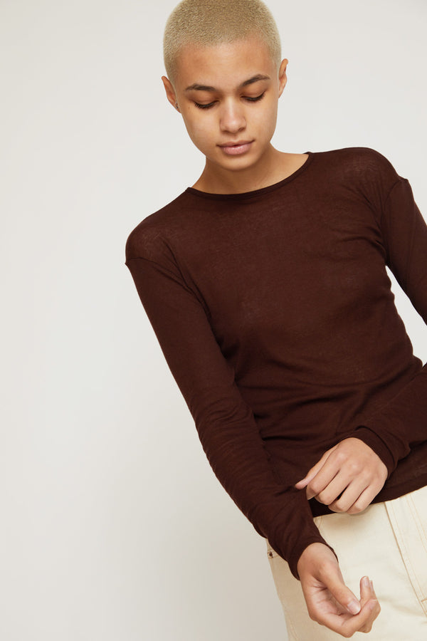 Baserange Puig Long Sleeve Top in Turnip