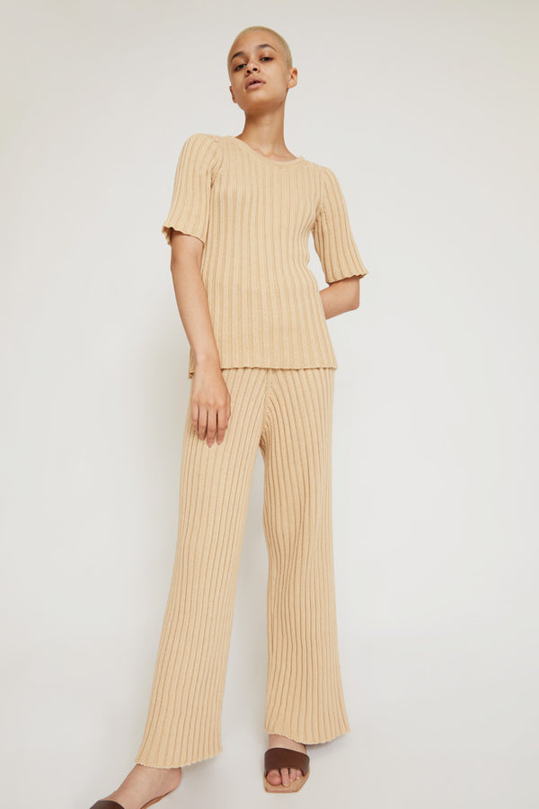 Baserange Maru Pants in Corda Off-White