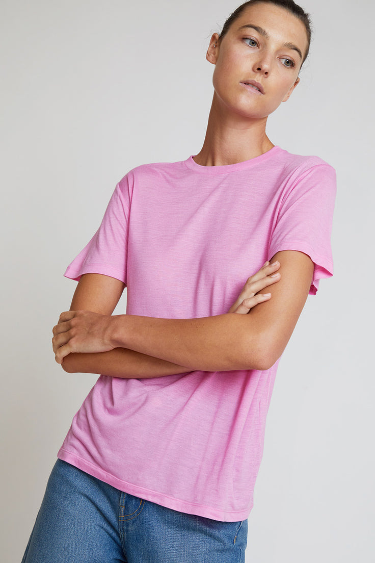 Image of Baserange Bamboo T-Shirt in Hane Pink
